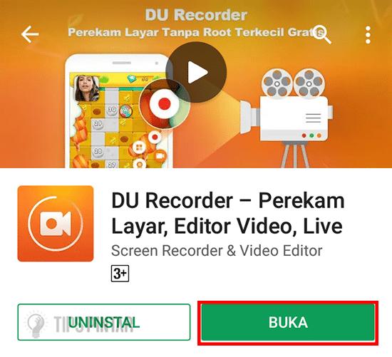 Buka Aplikasi DU Recorder