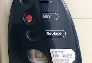Germkill Indicator pada Pure IT yang sudah digunakan selama 3 tahun