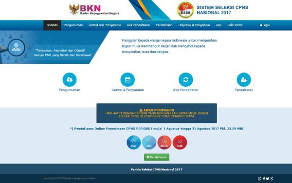 Alamat PO BOX Pelaksanaan Seleksi CPNS Kemenkumham 2017