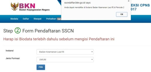 Cara Pendaftaran Online CPNS 2017 Untuk Lulusan SMA/SLTA/SMK