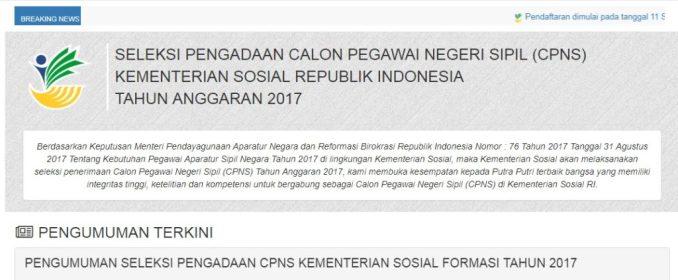 Hasil SKB Kemensos Lulus tahap akhir CPNS Kementerian Sosial 2017