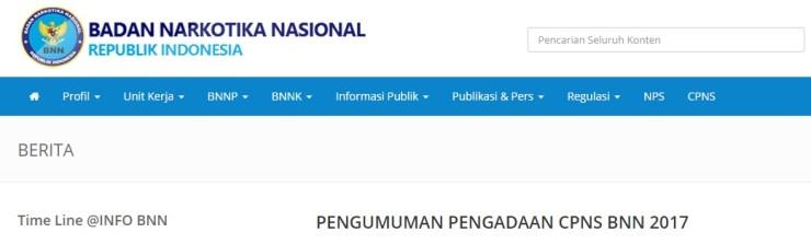Jadwal dan Lokasi Ujian SKD Seleksi Kompentisi Dasar CPNS BNN