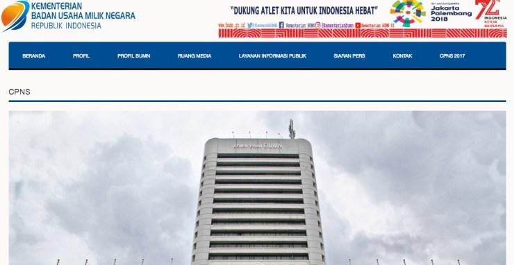 Daftar Nama Lulus Hasil Seleksi Administrasi CPNS KEMENTERIAN BUMN 2017