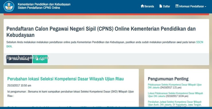 Pengumuman Hasil SKD CPNS Kemendikbud Seleksi Kompentensi Dasar Tes CAT