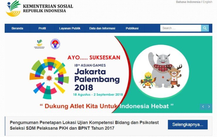 Pengumuman Hasil Akhir SKB Psikotes Seleksi SDM PKH BPNT Kemensos 2017
