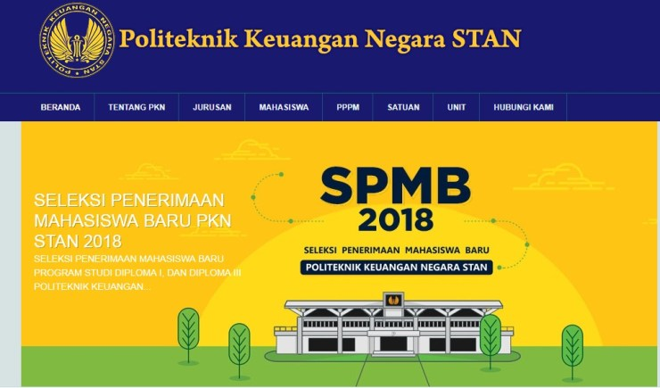 Jadwal Ujian Masuk Mahasiswa Baru STAN Politeknik Keuangan Negara 2018