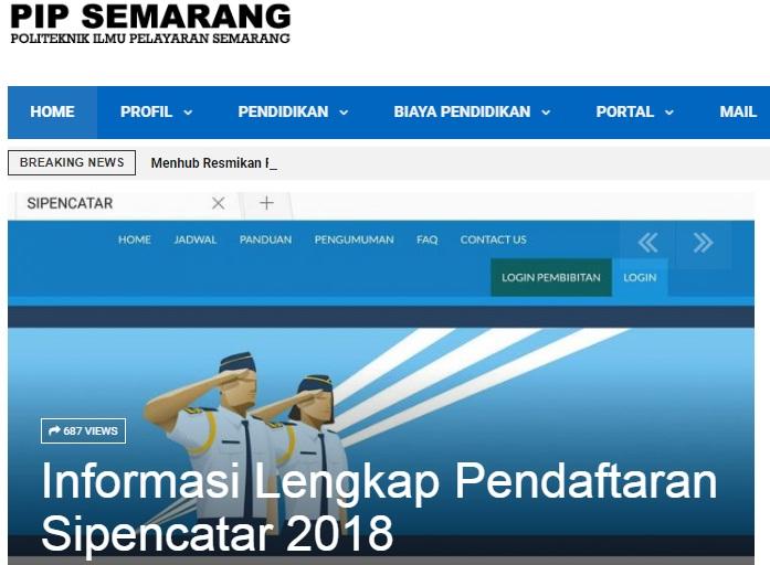 Daftar Peserta Seleksi Kompetensi Dasar SKD CATAR PIP SEMARANG 2018 Sipencatar Dephub