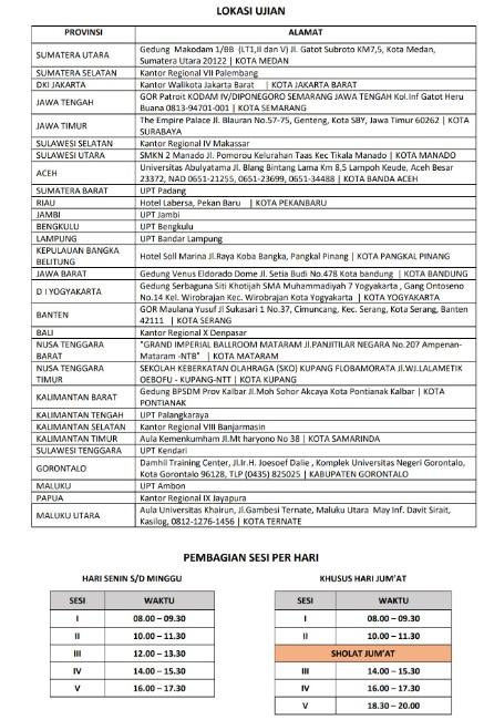 Jadwal dan Lokasi Tes SKD MA MAHKAMAH AGUNG 2018 Peserta Lulus Seleksi Administrasi SSCN.