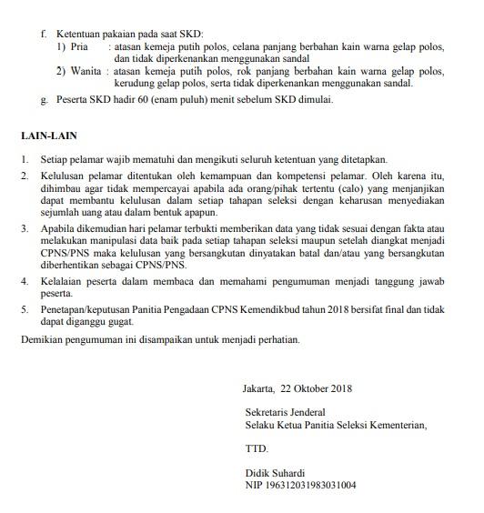 Jadwal dan Lokasi Tes SKD CPNS KEMENDIKBUD 2018 Peserta Lulus Seleksi Administrasi SSCN.