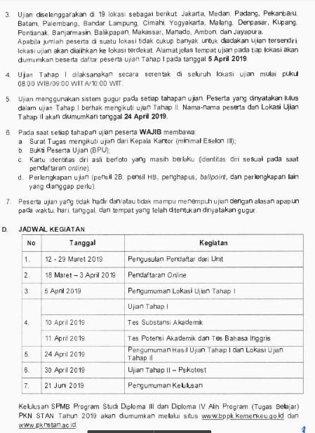 Jadwal dan Syarat Pendaftaran STAN 2019 Ujian Masuk Mahasiswa Baru Politeknik Keuangan Negara