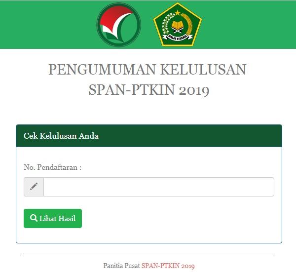 Pengumuman Hasil Seleksi Span Um Ptkin 2019 Uin Maulana Malik Ibrahim Malang