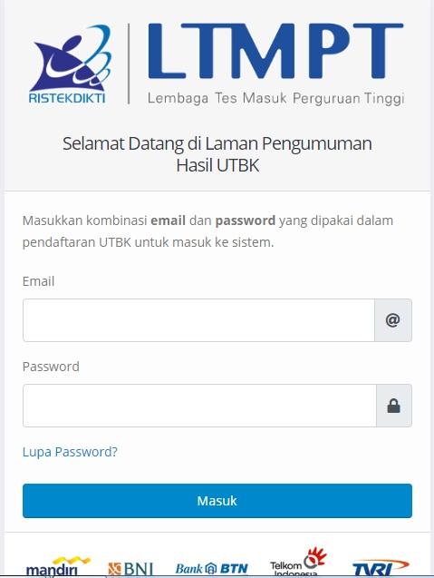 Pengumuman Hasil Seleksi UTBK 2019 Ujian Tulis Berbasis Komputer.