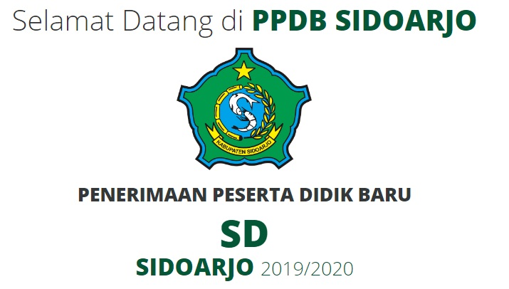 Pengumuman Hasil Seleksi PPDB Online SD Negeri Kab Sidoarjo 2019/2020, Hasil PPDB SD di Sidoarjo.