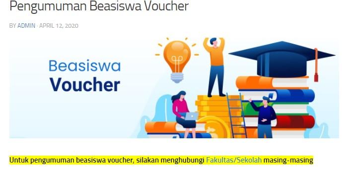 Pendaftaran Seleksi Beasiswa Voucher ITB 2020