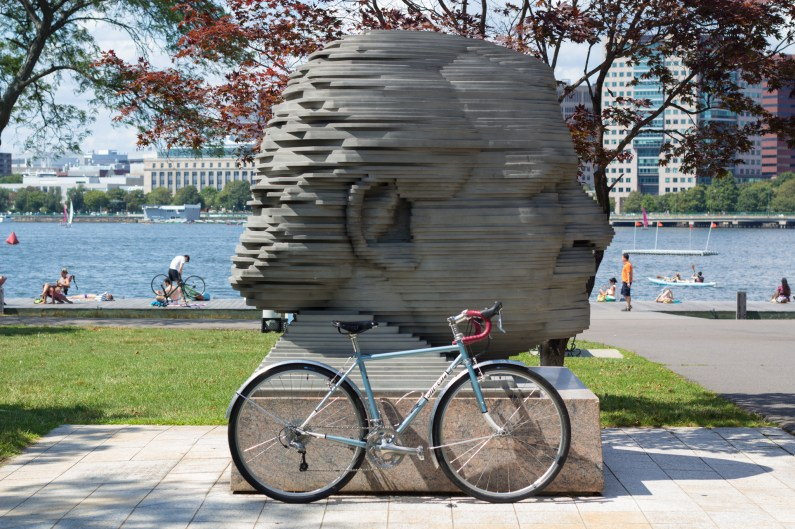 The All-City Space Horse on the Boston Esplanade.