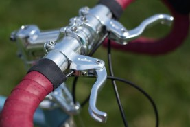 Salsa Halter Top interrupt brake levers. The match to the Ritchey bar and V-O stem made the bike in my opinion.