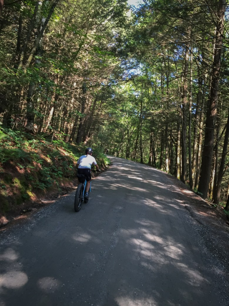 Jonathan on some archetypal D2R2 gravel roads in the middle of nowhere, Massachusetts.