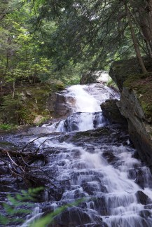 Thundering Brook Falls, right on the AT