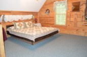 townsend cabin with open loft and king bed