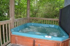 private hot tub townsend cabin rental