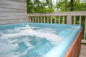 townend log cabin rental hot tub