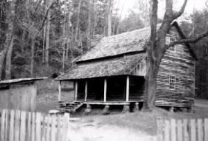 """cades cove cabin, """"Tipton Place"""""""