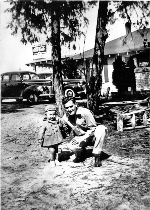 Uncle Allen with Customers Child