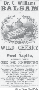 Dr. C. Williams' Balsam