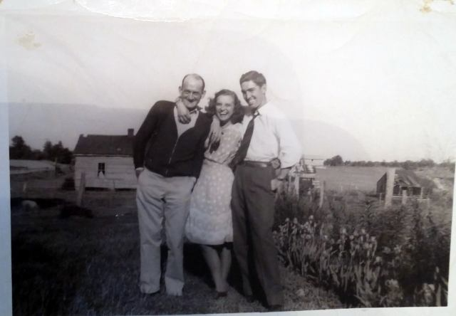 Aunt Helen and Uncle Richard with Uncle Walter Piercy