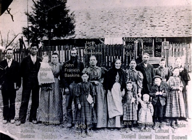 Baskin & Boswell Families of Tipton County TN Abt 1897-98
