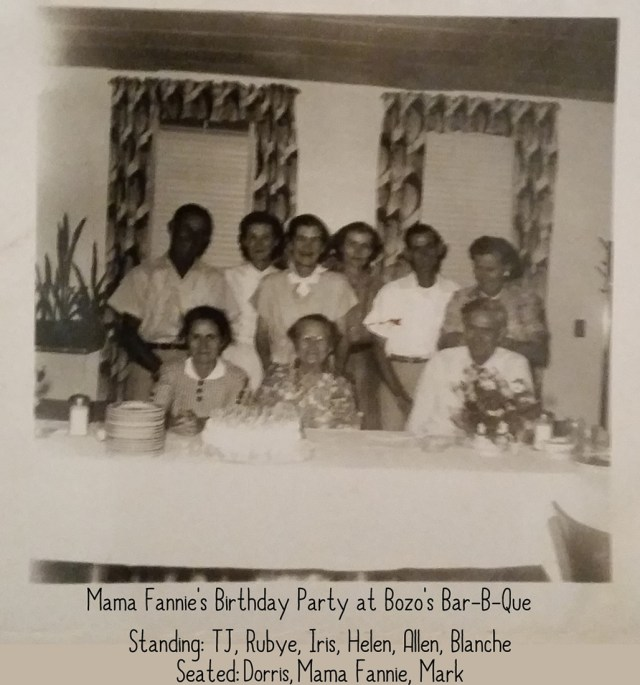 Bozo Williams Family at Bozo's on Mama Fannie's Birthday