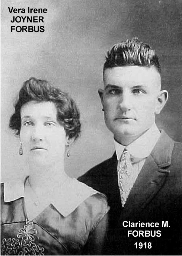 Clarence Monroe Forbess and Vera Irene Joyner Forbess