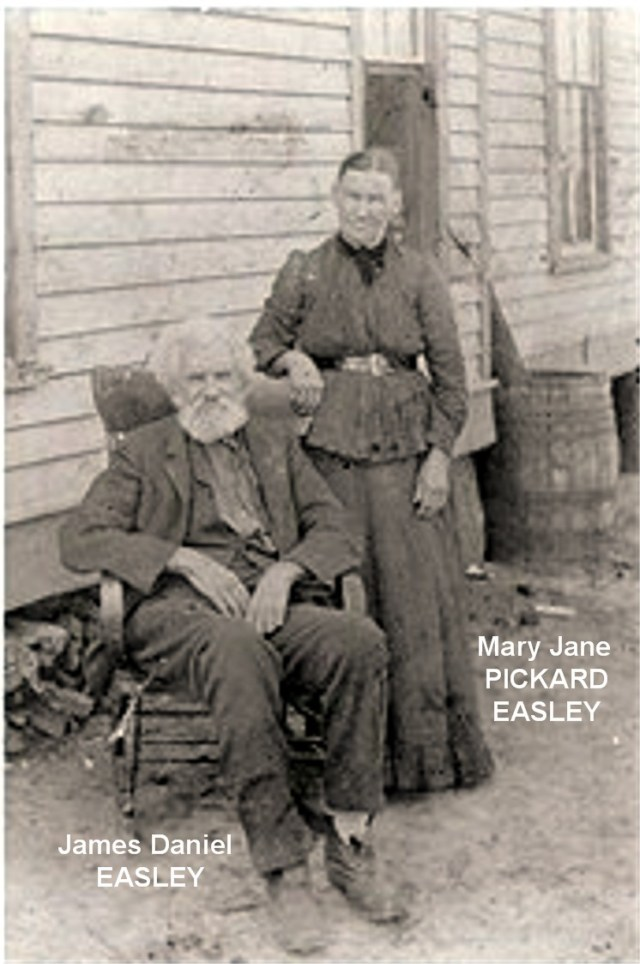 James Daniel Easley and Mary Jane Pickard Easley