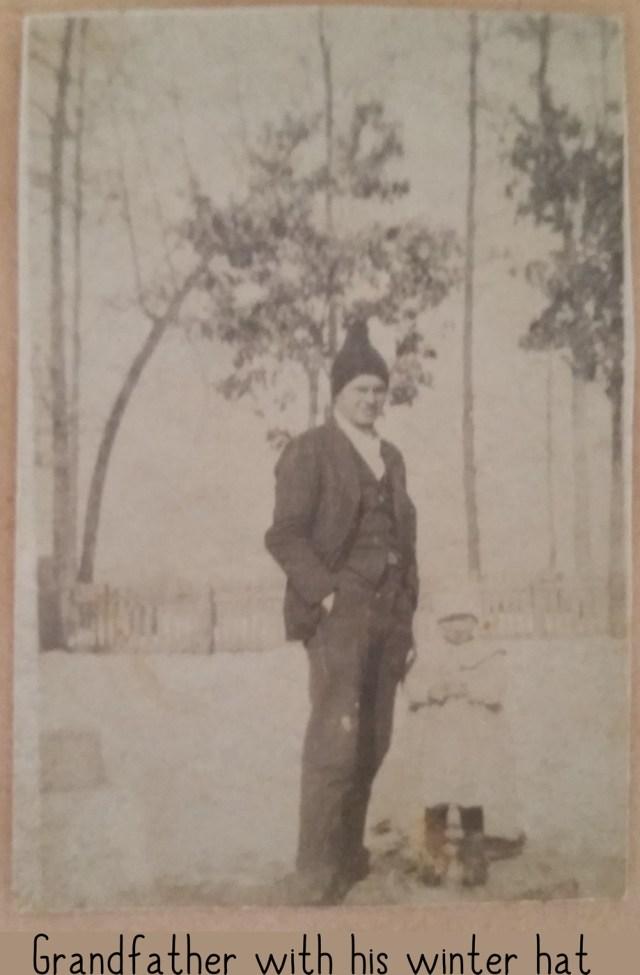 Grandfather in his winter cap - Dr E R Nichols