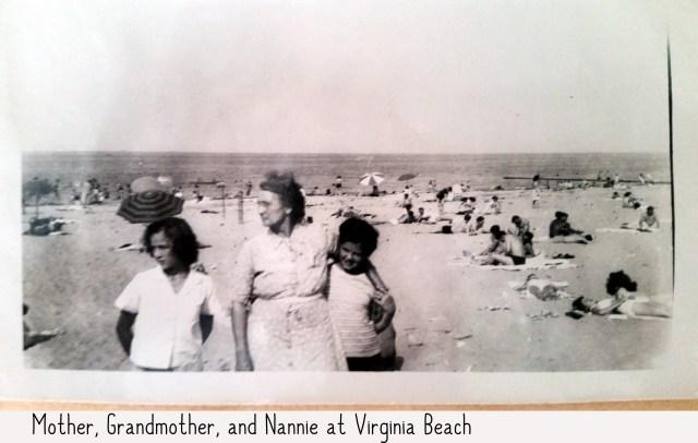 Mary Frances Piercy Nichols, Nancy Ann Nichols Gross, and Margaret Nichols Williams at Virginia Beach