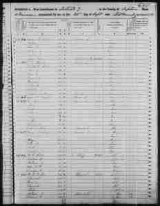 Census 1850 District 7 Tipton County Tennessee