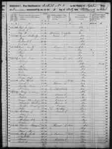 Census 1850 District 8 Tipton County Tennessee