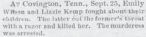 Murderess Mama - October 5, 1882