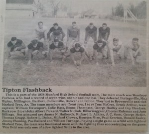 Tipton Flashback Munford High School Football Team