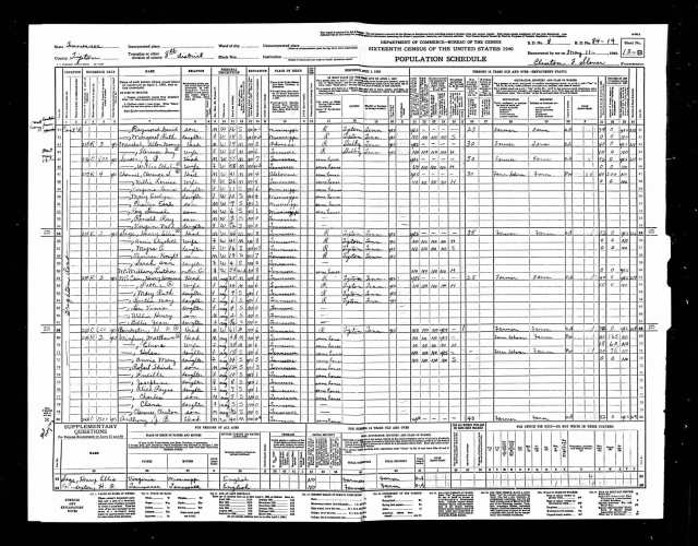 1940 Census with C. V. Channell