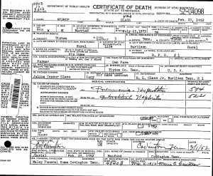 Glass, Bishop Edmond Sr - Obituary & Death Certificate