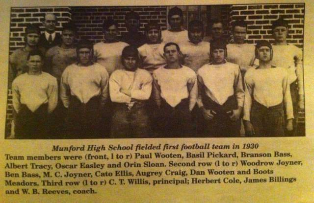 Munford HS Football Team 1930