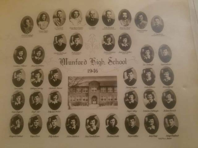 Munford High School Class of 1946  Shared by Roma McDaniel Howard