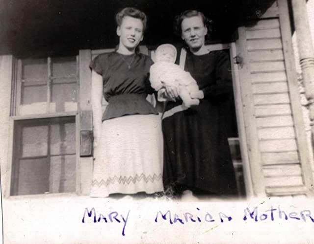 1947 My Maternal Aunt, her daughter and my Grandmother  Left to Right Mary Agnes Patterson Pruitt (1930-2002) Marcia Lynn Pruitt Cannon (1947-2014) Winnie Irene Joyner Patterson (1907-1994)