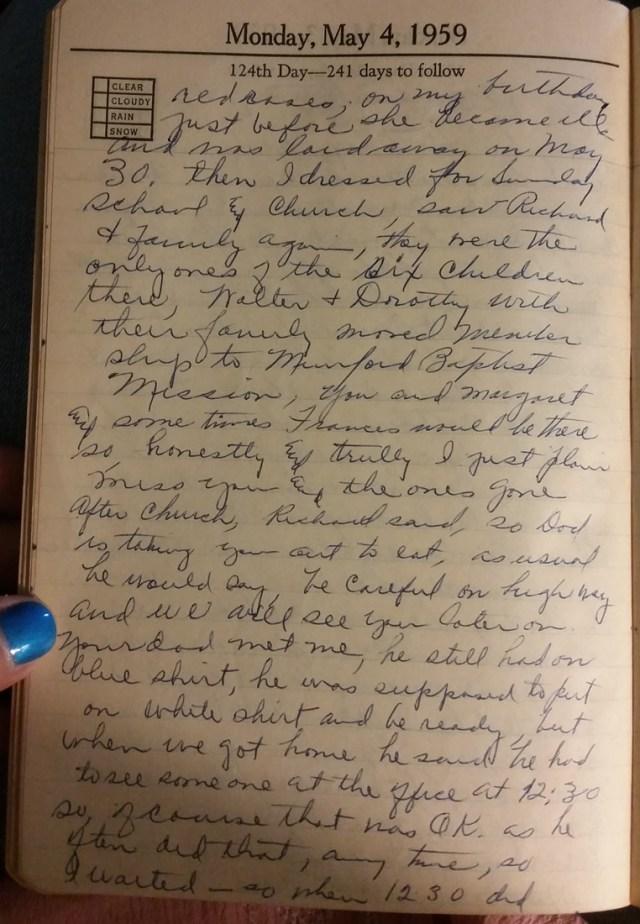 4 May 1959 - Mary F Nichols