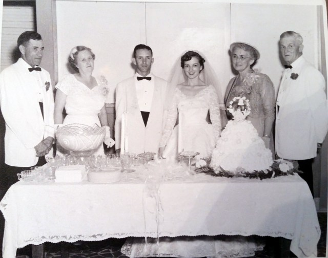 Thomas Alfred and Lexie Williams, Tom and Margaret Williams, Mary and Elbert Nichols - Tom and Margaret's wedding