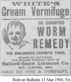 White's Cream Vermifuge