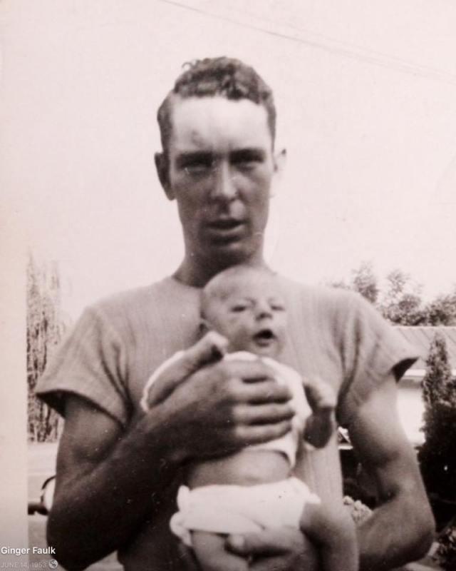 Carl Houston Faulk with my brother Steve Faulk Taken in 1948