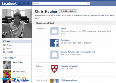 chris hughes 10 First People To Join The Facebook