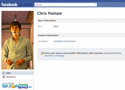 chris putnam 10 First People To Join The Facebook